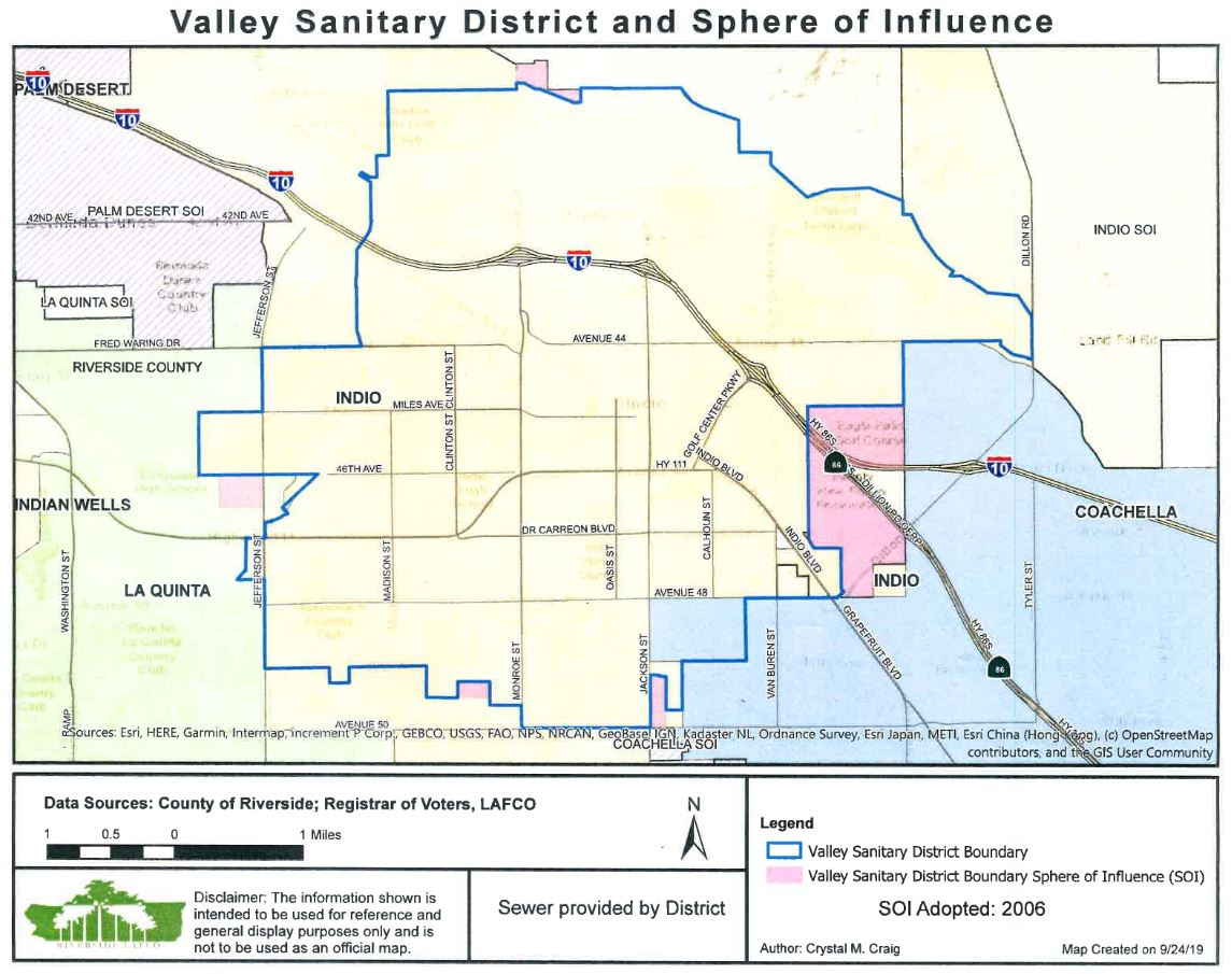 District Service Area and Sphere of Influence